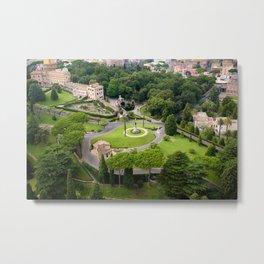 Vatican Gardens Metal Print