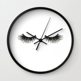Closed Eyelashes Wall Clock