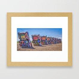 Cadillac Ranch Framed Art Print