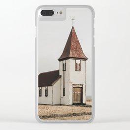 Hellnar Church, Iceland Clear iPhone Case