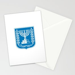 emblem of Israel 1-יִשְׂרָאֵל ,israeli,Herzl,Jerusalem,Hebrew,Judaism,jew,David,Salomon. Stationery Cards