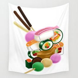 Sushi and Sweets - Full design Wall Tapestry