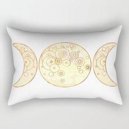 Triple Moon - Golden Rectangular Pillow