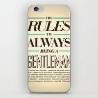 gentleman iPhone & iPod Skins featuring Gentleman! by ALLGOLD Creative