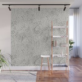 watercolor black dots Wall Mural