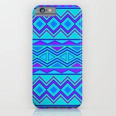 Tribal Pattern (blue & purple) iPhone 6s Slim Case
