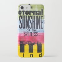eternal sunshine of the spotless mind iPhone & iPod Cases featuring The eternal sunshine of the spotless mind by Federica Tumminello