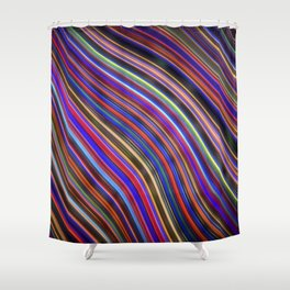 Wild Wavy Lines 18 Shower Curtain