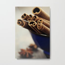 Cinnamon sticks and star anise Metal Print