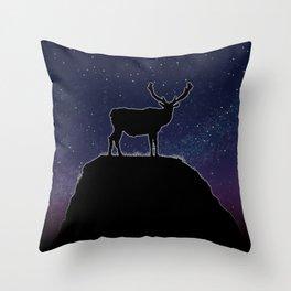 Deer Time Throw Pillow