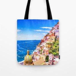 Colorful Positano Italy Tote Bag
