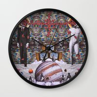 teen titans Wall Clocks featuring Clash of the Titans by George Bogiatzidis(Boya)