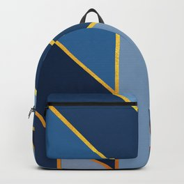 Pointing Blue Backpack