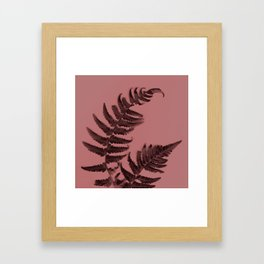 Fern on marsala Framed Art Print