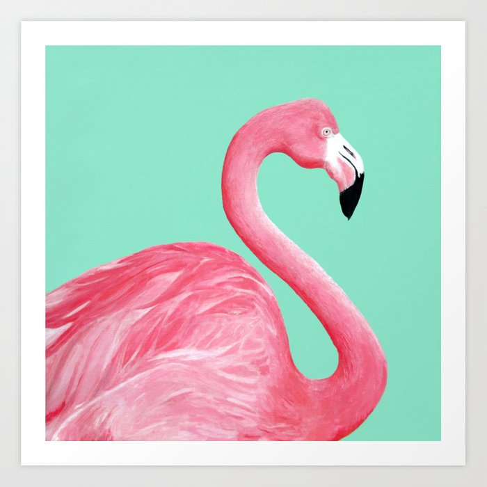 Pink Flamingo Kunstdrucke