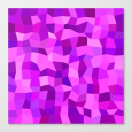 Pink purple tiles Canvas Print