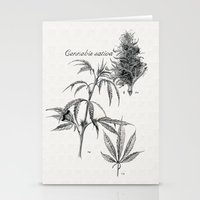 cannabis Stationery Cards featuring Cannabis sativa by 420Illustrations