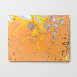 Orange Yellow Striations Metal Print
