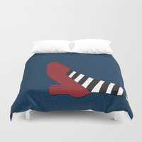 shoe Duvet Covers featuring Oz shoe by Priscylla Cabral