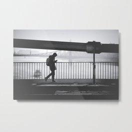 Walking on Metal Print