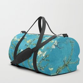 Vincent van Gogh Blossoming Almond Tree (Almond Blossoms) Light Blue Duffle Bag
