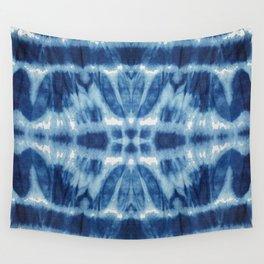 Tie Dye Blues Twos Wall Tapestry