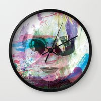 women Wall Clocks featuring Women by Oana Popan