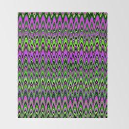 Making Waves Neon Lights Throw Blanket