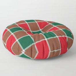 Plaid Festive Floor Pillow