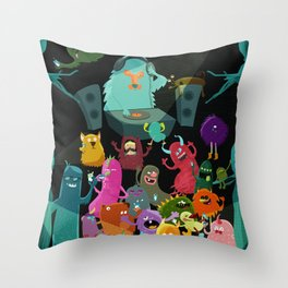 The mezcal monsters Throw Pillow