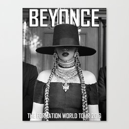 BEYONCE'S  THE FORMATION WORLD TOUR 2016 Canvas Print