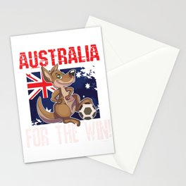 Soccer Football Championship Goal Nation Penalty Australia Stationery Cards