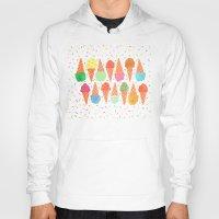 sprinkles Hoodies featuring Ice Cream & Sprinkles by julz nally