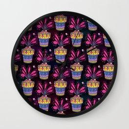 Drosera flower pattern Wall Clock