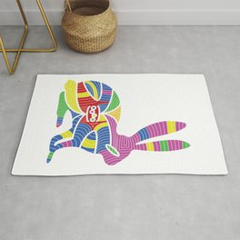 colorful rabbit abstract Rug