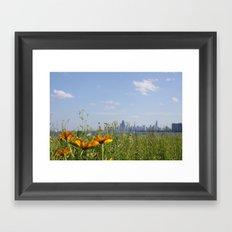 Chicago/Flowers/Skyline/City Framed Art Print