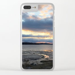 Perfect Sunset over Half Moon Cove Clear iPhone Case