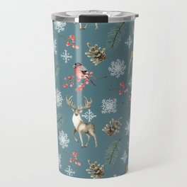 Xmas Pattern Teal #socieyt6 #buyart Travel Mug