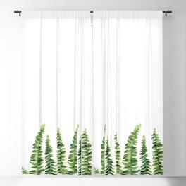 Fern watercolour Blackout Curtain