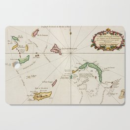 Vintage Turks and Caicos Map (1764) Cutting Board