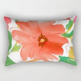 nasturtium floral Rectangular Pillow