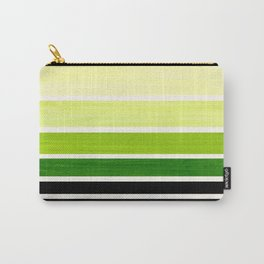 Sap Green Minimalist Mid Century Staggered Stripes Rothko Color Block Geometric Art Carry-All Pouch