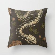 Snake Skeleton Throw Pillow