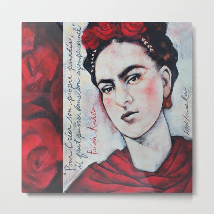 Portrait of Frida Kahlo Metal Print