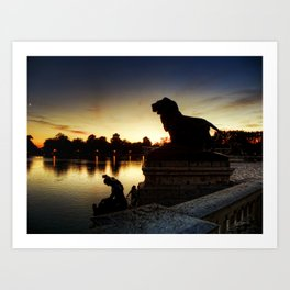 The Lion watches Art Print