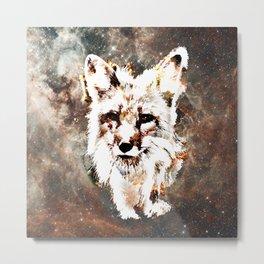 Space Fox no4 Metal Print