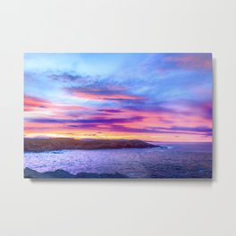 Biscay Bay sunset Metal Print