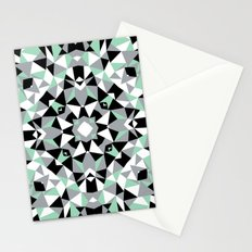 Abstract Kaleidoscope Mint Stationery Cards