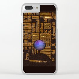 GOLD RUINS WITH GEM Clear iPhone Case