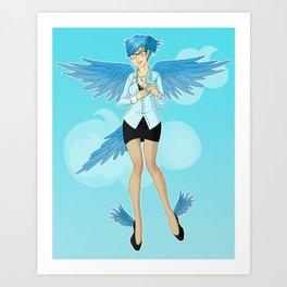 Twitter Mascot Art Print